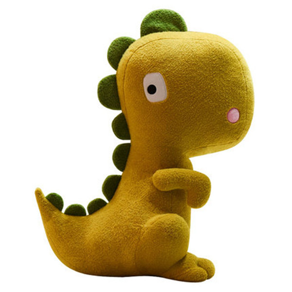 20170626 Hot Sale High Quality Little Dinosaur Pillow Cute Girl Heart Pink Plush Toys Accompanied With Sleeping Bed Dolls Free Shipping