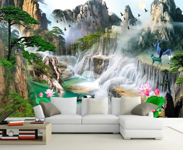 Großhandel Benutzerdefinierte Fototapete 3D Stereoscopic Feng Shui  Abstrakte Wald TV Sofa Schlafzimmer Sofa Hintergrund Wandbilder Tapete Von  ...