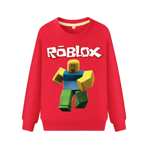 ROBLOX Clothing Boys Sweatshirts Baby Girls Designer Hoodies High Street ROBLOX 3D Print Hoodies Pullover Winter Sweatshirts 100-140