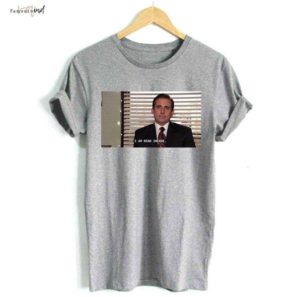 T Shirt Verão Eu sou Grunge Citar engraçado do escritório Scott Camiseta Unisex Tumblr Morto Curto Moda Casual T Shirt