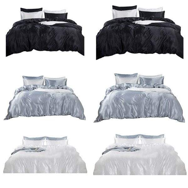 3 Pcs Bed Sheet Pillowcase Flat Fitted Deep Pocket Queen King Full Sizes Bedding Set