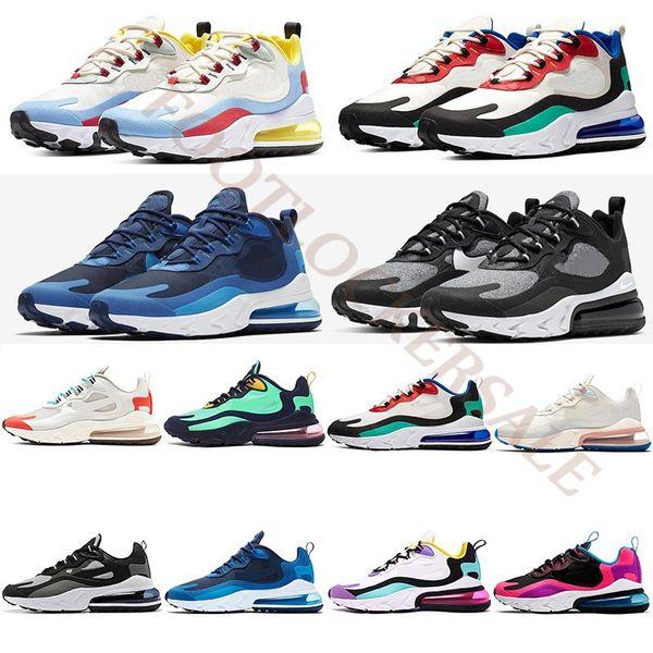 top popular BAUHAUS React 2019 Men Women Running Shoes Bauhaus Optical Hyper Blue Violet Green Mens Trainers Utility Designer Sports Sneakers Size 36-45 2019