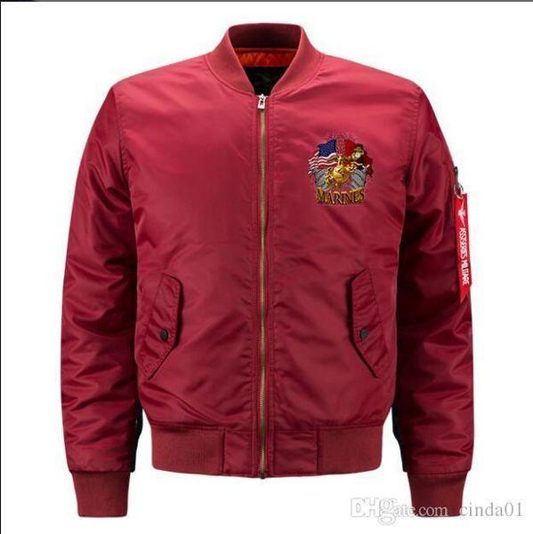 Mens MA0 Designer Jackets Autumn Winter Male Solid Color Coats Bomber Jakcet Mans Pilot Outerwear Asian Size