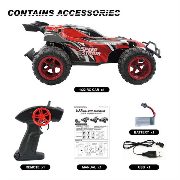RC Car Remote Control Car 1:22 2WD 2.4GHz Climbing Car Model Off-Road Radio-Controlled Cars Toys For Kids Boys Off Road Racing