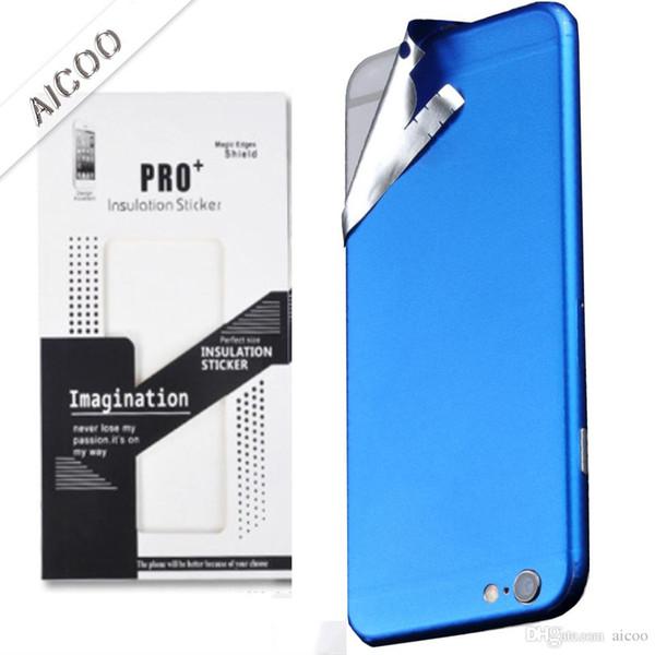 Обернутая наклейка с ледяной пленкой для iPhone 7 6 6s Plus Роскошный телефон Твердая защитная пленка Защитный красочный стикер Розничная упаковка
