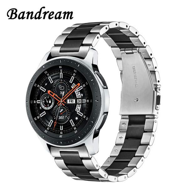 Bandream Нержавеющая сталь ремешок для часов + ссылка для удаления для Samsung Galaxy Watch 46 мм Sm-r800 Quick Release Band ремешок наручные браслет T190620