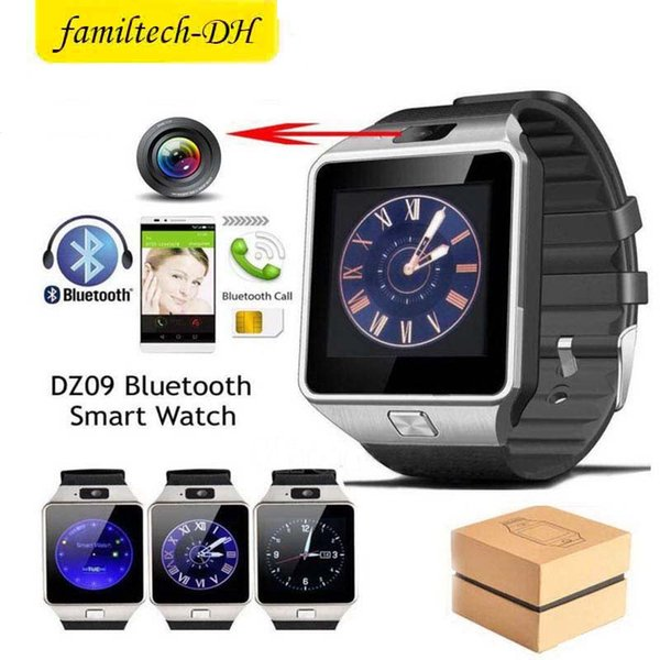 Free shipping DZ09 Bluetooth Smart Watch Phone Mate GSM SIM For Android iPhone Samsung Huawei Cell phone 1.56 inch Free DHL smartwatches