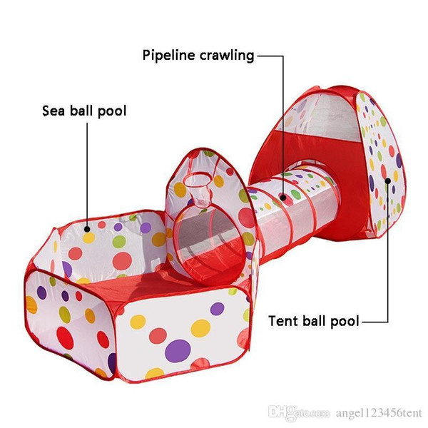 Freee Shipping Kids Play Tents Pipeline Crawling Huge Tunnel Toy House for Children Outdoor Indoor Yard Playpens Ocean Stress Ball Pool