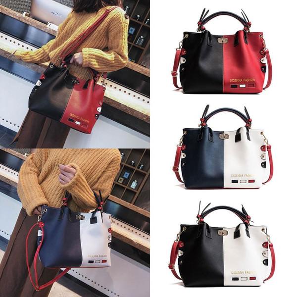 Fashion Women Leather Shoulder Bag Tote Purse Crossbody Messenger Handbag Top Handle Bags Hot