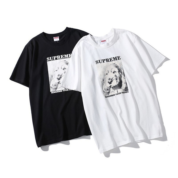 2019 new high quality couple short sleeve fashion trend T-shirt 09#