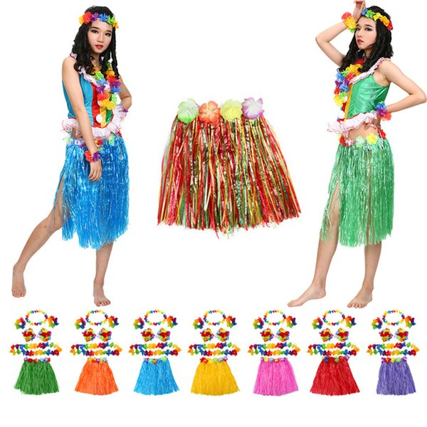 rtificial Decorazioni Ghirlande Ghirlande hawaii Dekoration Petalo Leis Beach Party Dress fiore hawaiano corona collana festa hawaiana deco ...