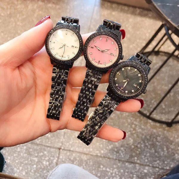 2019New Fashionable reloj de pulsera de cuarzo dama diseñador reloj de diamantes de acero inoxidable Japón importación movimiento de lujo relojes de las mujeres
