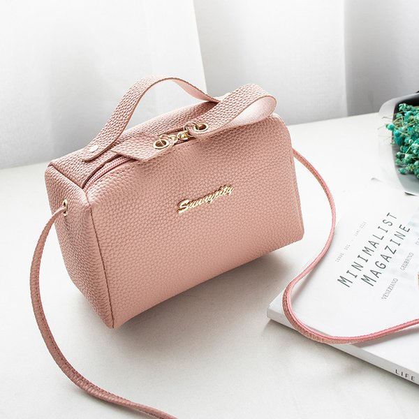 bags for women's handbag bucket bag small purse cell phone shoulder bag cute solid fashion cross body zipper bags