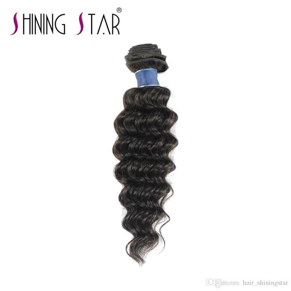 afro human hair bundles shining star indian hair wholesale deep weave 3 weft human hair bundles