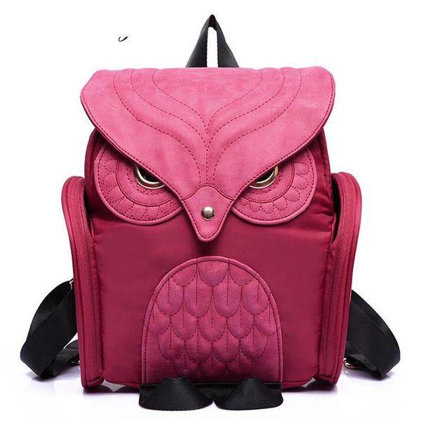 good quality Owl Women Backpack 2019 Newest Stylish Cool Black Pu Leather Owl Backpack Female Shoulder Bag School Bags Mujer Mochila