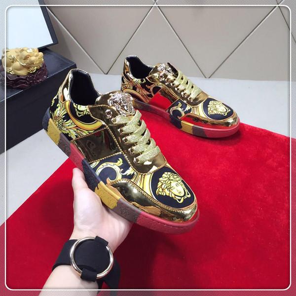 Zapatos casuales de lujo para hombres, nuevas zapatillas de viaje para exteriores 2019. Zapatos casuales de alta calidad entrega rápida con caja original
