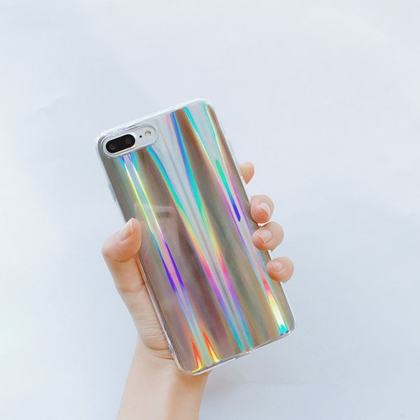 Mytoto olorful Phone Case For iPhone X 10 Cool Laser Rainbow Shining Case For iphone 7 6 6s Plus Soft TPU Back Cover Bags Coque Capa