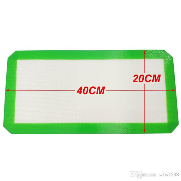 FDA approved Food grade 40X20CM non-stick slick oil silicone mat dab bho wax mat with silicone and fibreglass construction Custom Wax Mat