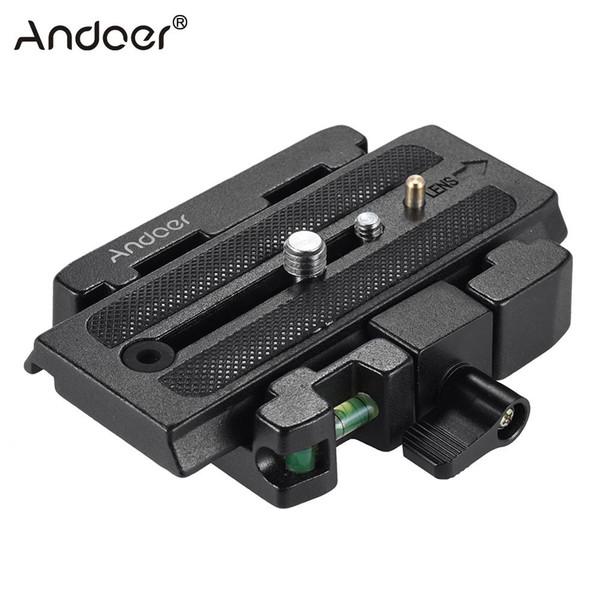 зажимной адаптер Andoer Видеокамера Штативной адаптер с быстросъемной пластиной Совместимо с головкой Manfrotto 501 500AH Q5