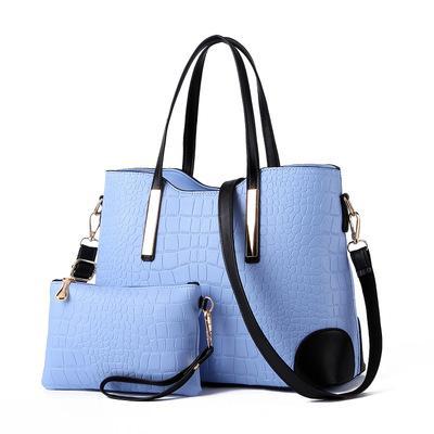 crocodile pattern big bag new sale European and American fashion tide ladies shoulder bag mother bag two-piece