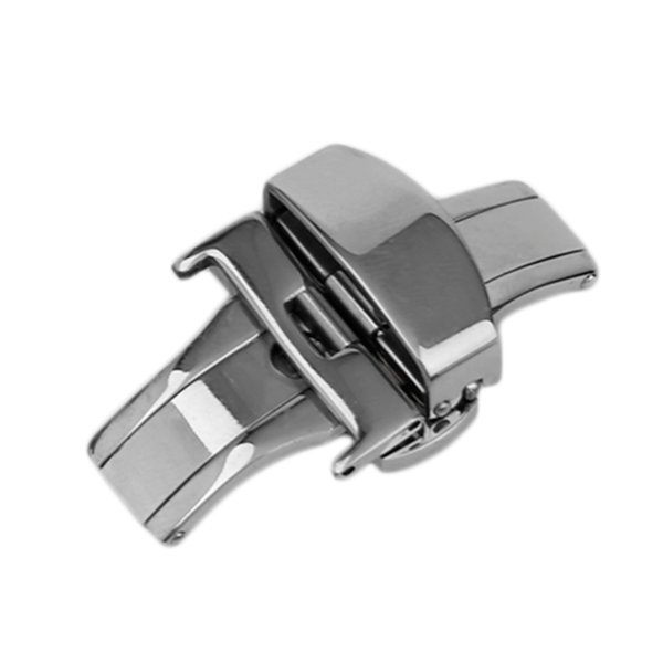 18MM / 20MM / 22MM Universal Metal Watch Buckle 2017 New Durable For Use Doppia pieghevole Butterfly Deployment Clasp Watch Accessori