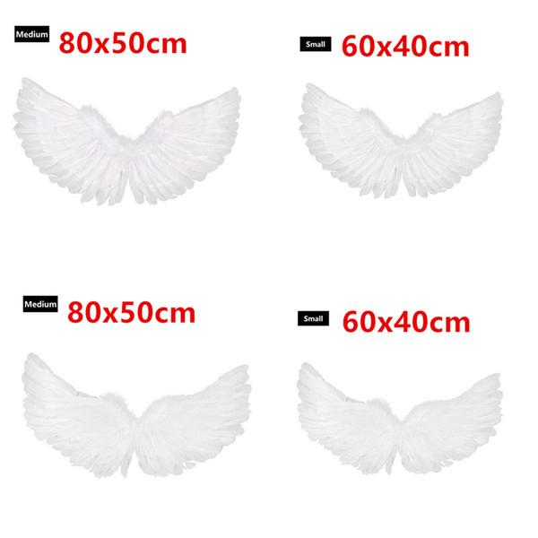 White Feather Angel Wings Kids Childrens Boys Girls Fancy Dress Costume