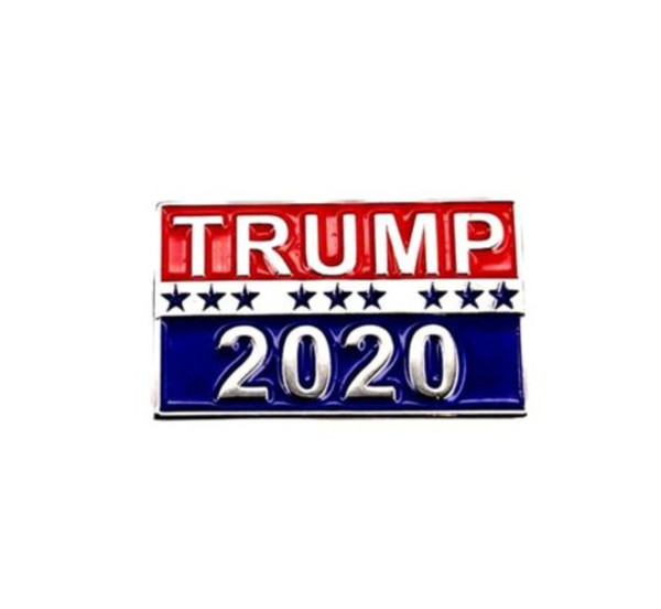 Trump 2020 pin patriotic republican party campaign metal pin rai ed lettering