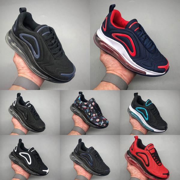 Nike Air Max 720 2020 New Kids Knit дышащие кроссовки Originals Все AirCushion Дети Наполняющие качество Обувь Спортивный топ