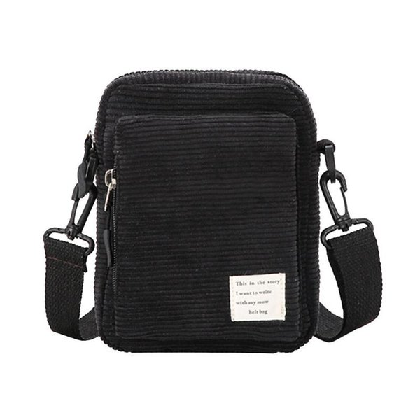 Fashion Women's Hand bags Girls Crossbody Chest Bag Corduroy Casual over the Shoulder Phone Bags Gift ladies Waist pack