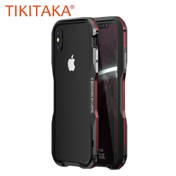 Aluminium Frame 360 Protective Armor Phone Case For Iphone X Xs Max Xr Cover Metal Bumper For Iphone 7 8 Plus Case Coque T190710