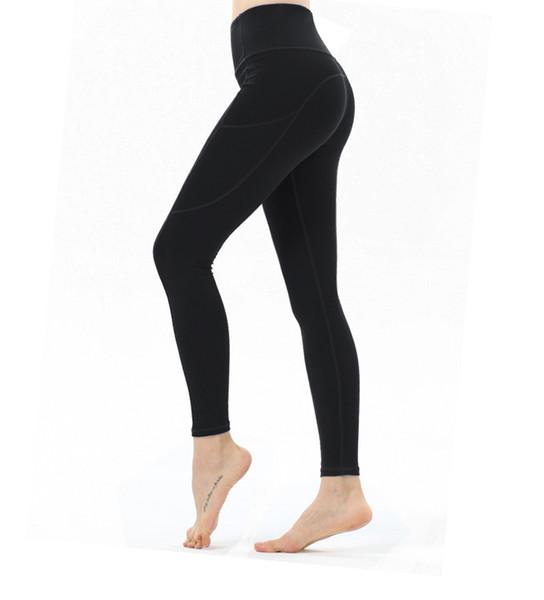abbigliamento yoga per le donne gambe lunghe autunno sport invernali delle donne di colore solido mostrano glutei di sollevamento sottili vita alta pantaloni stretti di yoga