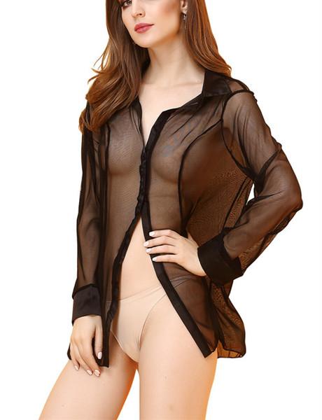 Womens See-Through Pajamas Elegant Night Dress Sexy Mesh Lingeries Lovers Costume Nightwear Fashion Temptation Nightgown Underwear Free Size