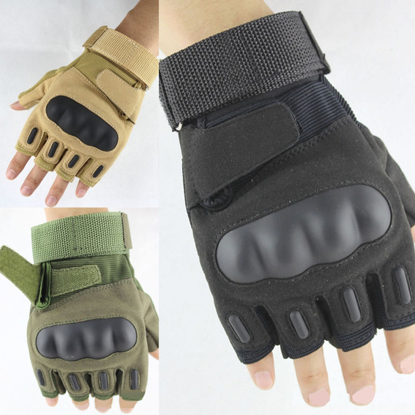 Wholesale Integrated Outdoor Half Finger Tactical Gloves Cycling Motorcycle Fitness Sports Shooting Climbing Protective Gloves M339Z
