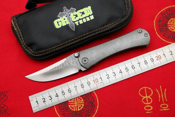 Зеленый шип SBSF M390 стальное лезвие Нудист TC4 Титановая ручка открытый кемпинг охотничий карман фрукты складной нож EDC Утилиты