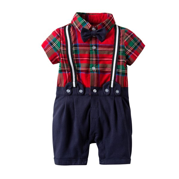 baby boy gentlemen outfits sets summer newborn baby boy clothing sets tie shirt overall infant clothes for party wear
