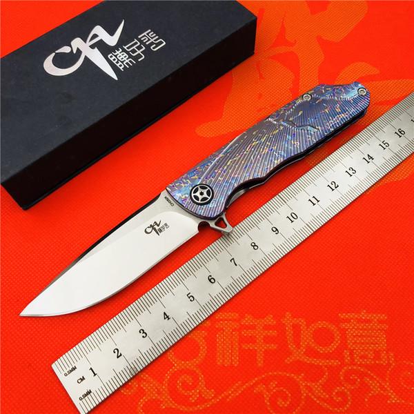 CH 3501 original design Flipper folding knife AUS-10 Blade ball bearings Titanium handle camping fruit pocket outdoor EDC tools