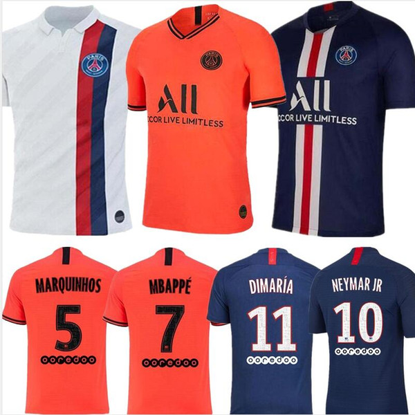 new concept 07625 19720 2019 19 20 PSG Maillots De Foot MBAPPE Soccer Jersey CAVANI VERRATTI Top  Thailand 2019 2020 Paris Football Shirt SILVA Camiseta De Futbol From ...