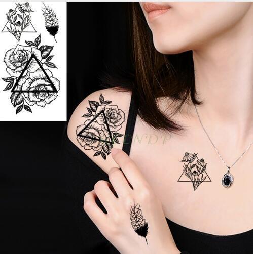 Impermeabile Tatuaggio Temporaneo volpe lupo lupo balena civetta geometrica animale tatto flash tatoo tatuaggi finti per ragazza donna uomo bambino 7