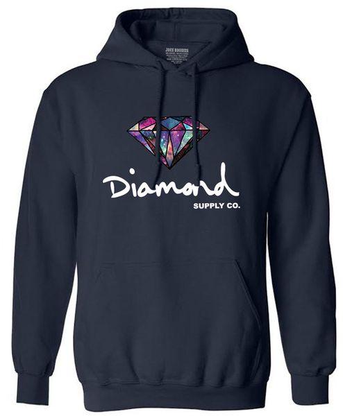 Venta al por mayor de Diamond Men Hip Hop Hoodies Sudaderas Hombre sudadera con capucha Skateboard Pullover envío gratis LX3