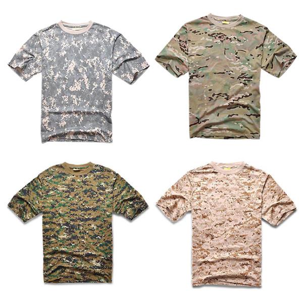 Men Camo T Shirt Mens Brand Short Sleeve Tactical T Shirt Muti Color Wholesale on sale