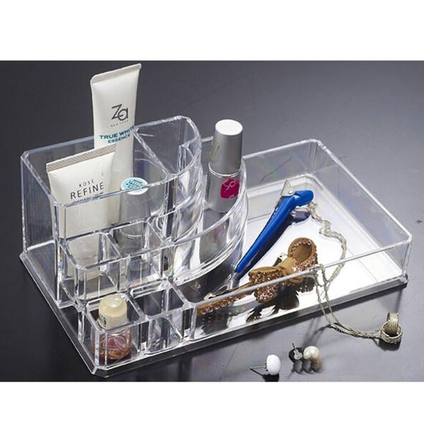 24 Grids Crystal Plastic Lipstick Storage Box Makeup Table Organizer Transparent Dressing Table Storage Box Cosmetic case
