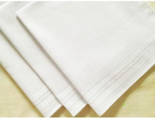best selling Party 34cm 100% Cotton Male Table Satin Handkerchief Towboats Square Handkerchief Whitest 34cm Men Christmas Gift
