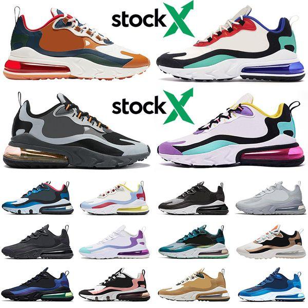 2020 270 react stock x 270s men women running shoes triple