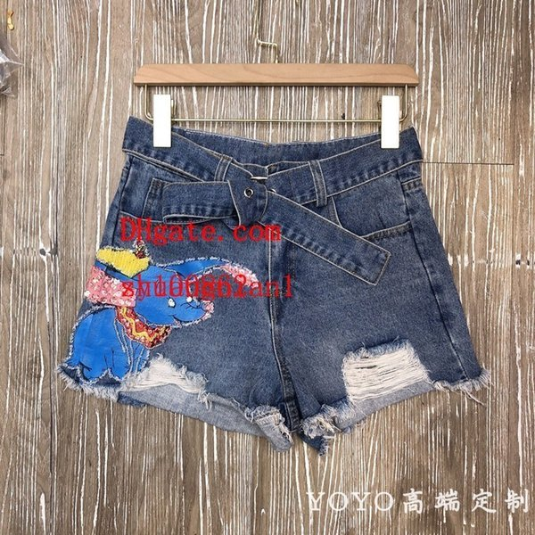 Yoyo19 Match Belt Hole Small As Book Bead Sequins Printing Hundred And Up Cowboy Shorts