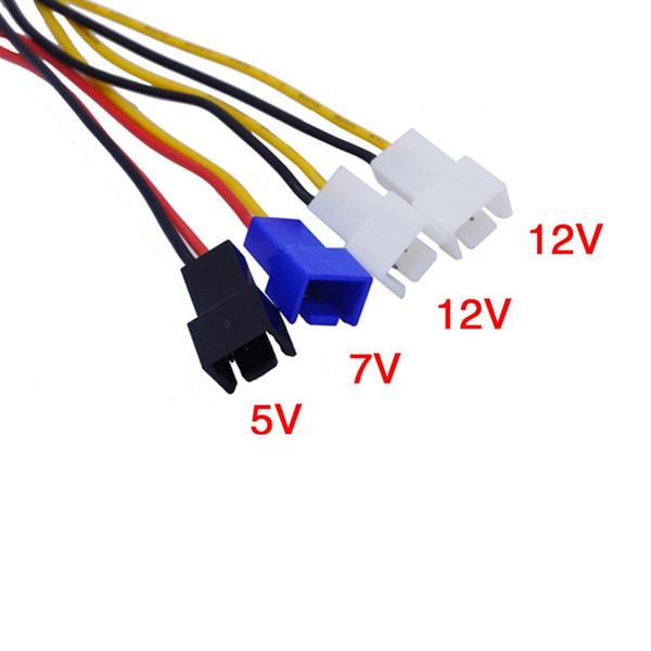 Contrôleur de vitesse de vent de PC de 4canaux pour le processeur de boîte HDD VGA fan pour la régulation de température de PCI sur le contrôle 5V 7V 12V 3pin
