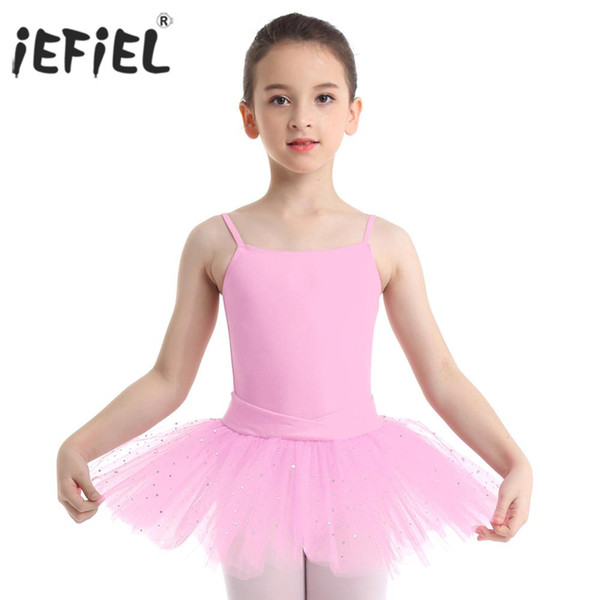 leotard iEFiEL Ballet Dance for Girls Tutu Dress Bow Glitter Tulle Dancing Gymnastics Leotard Kids Ballerina Stage Performance