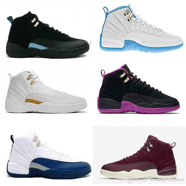 High Quality 12 12s mens basketball shoes sneakers OVO White Gym Red Dark Grey women Basketball Shoes Taxi Blue Suede Flu Game CNY