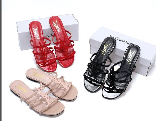 2019 venden bien Tamaño 37-41 de los zapatos de las mujeres zapatos casuales sandalias de moda característica Zapatilla XXLLouis Vuitton