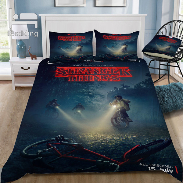 Film Hot Stranger-Things 3D Literie imprimé housse de couette double pleine Reine King Size Dropshipping