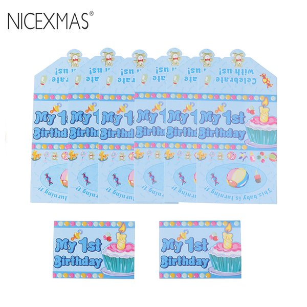 Nicexmas First Birthday Invitations Kids Children Birthday Party Invitation Card For Boys Make Greeting Cards Merry Christmas Cards From Yueji
